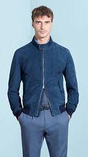Hugo Boss Mens MERCEDES BENZ Mornas Suede Texture Mix Leather Jacket 50/L £530