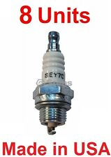 Set of 8 Mega-Fire SE-Y7C Spark Plugs - Rep Champion 853-1, CJ7Y, Stens 130-146