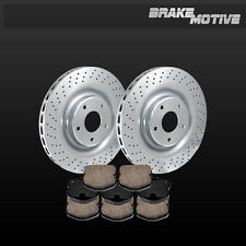 REAR DRILLED BRAKE DISC ROTORS + CERAMIC PADS C6 Chevy Corvette Z06 Grand Sport