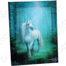 Fantasy Gothic Art Canvas Wall Plaque~Forest Unicorn~by Anne Stokes~16~uk seller