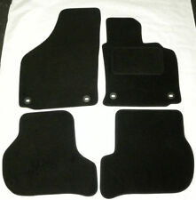 Black Tailored Car Mats for VW GOLF mk5 MKV 2004 to 2007 4 oval clips B1350 NEW