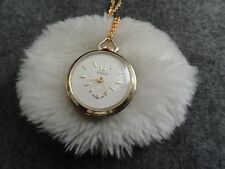 Pretty Swiss Made Story Wind Up Necklace Pendant Watch