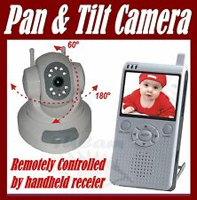 "Wireless Camera PAN TILT 2.5"" Baby Video Monitor Color NEW USA shipping NR"