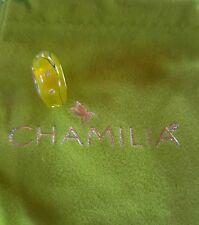 brand new chamilia city lights yellow steel murano glass 2116-0077