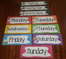 10 Candy themed Days of the Week Learning Center Cards.  Classroom Accessories.