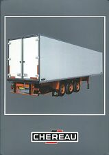 Truck Trailer Brochure - Chereau - Refrigerated Vans FRENCH lang 2 item (T1944)