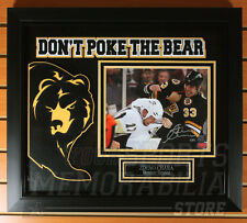 "Zdeno Chara Boston Bruins Signed Autographed ""Don't Poke the Bear"" Framed 8x10"