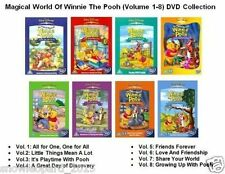 MAGICAL WORLD OF WINNIE THE POOH DVD VOLUME 1 2 3 4 5 6 7 8 Walt Disney Sealed