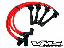 VMS RACING 96-00 HONDA CIVIC EX DX LX 10.2MM 10.2 MM SPARK PLUG WIRES SET RED