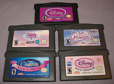 GBA LOT: 5 Kid's Games - My Little Pony/Cinderella/Disny Princess/Barbie & More!