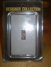 GENUINE ACRYLIC & GRAY  SINGLE LIGHT SWITCH PLATE OUTLET COVER