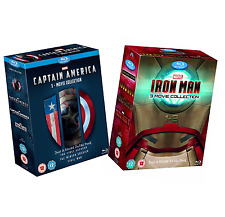 Captain America + Iron Man: Complete Movies Series 1 2 3 Boxed BluRay Set(s) NEW