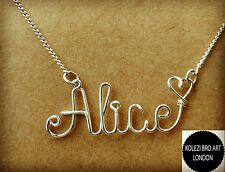Custom Wire Name Necklace Personalized Gift