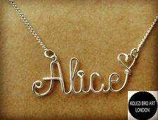 Collar de nombre de alambre personalizados día de San Valentín Regalo Para Ella Personalizado y único