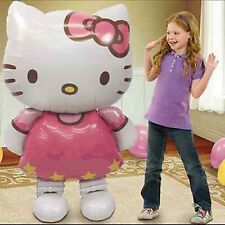 "Hello Kitty Helium Foil Balloon 46"" BIG HUGE GIANT 115cm X 66cm kids Party Gift"