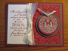 Christmas Card Kit: Nativity Ornament Jesus Mary Stampin Up Handmade cards set 4