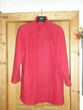 Red Marks & Spencer Pure New Wool Jacket Concealed Buttons Pockets UK18
