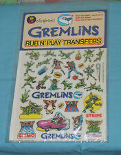 vintage GREMLINS RUB N' PLAY transfer set by Colorforms MIP sealed