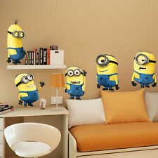 New Removable Cartoon Wall Stickers for Kids Rooms Wallpaper 3D House Decoration
