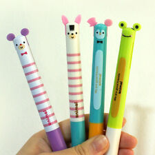 1pcs Cute Animal 2colors in a Ball Point Pen 0.7mm Red Black School Supplies