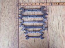 """6 Vintage Snail Brand AF Spanners 3/4""""AF to 7/16""""AF."""