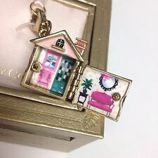 Juicy Couture Home Sweet Home House Doll House Charm Bracelet Pave YJRU5082 NEW