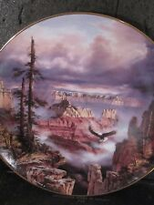 1993 God Bless America WHERE EAGLES SOAR eagle Grand Canyon Ltd Ed Plate