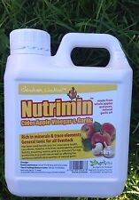 Nutrimin Cider Apple Vinegar & Garlic 1 ltr for Chickens, Poultry, Hatching Eggs