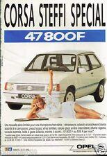 Publicité advertising 1988 Opel Corsa Steffi Graf