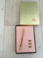 Vtg Mascot Memo With Magnetic Mechanical Pencil Gold Tone Metal Pink Glitter 111