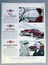 Original 1950 Chevrolet Styleline Ad Maroon Ink Ad FIRST...FINEST...LOWEST COST