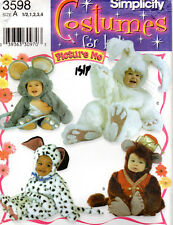 """Simplicity Costumes for kids Sewing Pattern # 3598 """"Toddlers' Costumes"""" 1/2 - 4"""