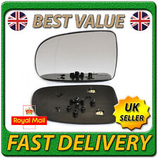 Left Passenger Side Heated Wing Door Mirror Glass for VAUXHALL CORSA C 2001-2006