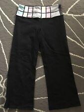 Lululemon Crop Groove Pants Sz 2 yoga running athletic pants Reversible black
