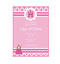 Pink Princess Party PERSONALIZED Birthday Party Invitations - Set of 16