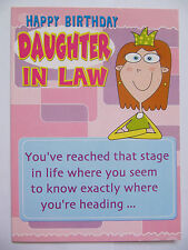 FANTASTIC FUNNY ONE BOUTIQUE TO ANOTHER DAUGHTER-IN-LAW BIRTHDAY GREETING CARD