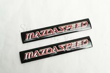 2Pcs Black MazdaSpeed Aluminum Alloy Auto Body Trunk Lid Sticker Badge Emblems