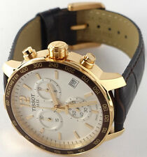 Tissot T0954173603700 Rose Plated Case Quickster Chronograph Men's Watch