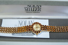 "NOLAN MILLER ""SHADES OF SUNSET"" OMBRE-EFFECT GOLD-TONE WOMEN'S WATCH"