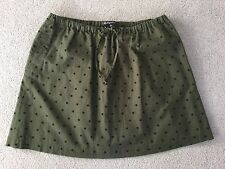 BROADWAY AND BROOME.  Green Spotty Cotton Skirt. Size Medium. New.