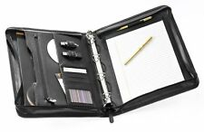 Falcon Bonded Leather F16518BL A4 Zip Conference Folder with  4 ring binder.