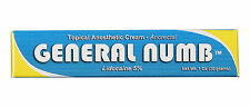 New 1 General Numb 5%- Lidocaine Gel (30 grams) Anesthetic Skin Numbing Cream