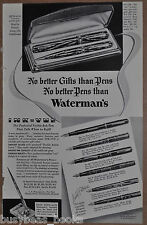 1936 Waterman's Fountain Pen advertisement for WATERMAN Ink-Vue pens