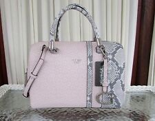 GUESS Swim Satchel Crossbody Bag Signature Logo Blush Gray Snake Accents NWT