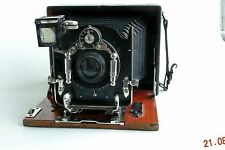 Ernemann Heag VI folding wood plate camera 8x11 + Doppel-Anastigmat 135mm RARE