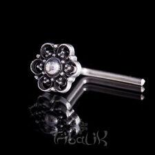 Plata para nariz, nariz flor de verano de plata esterlina Pin, Barra de nariz de plata (código 26)