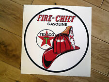 "TEXACO Gasoline FIRE-CHIEF Round 12"" STICKER Petrolania Gas Pump Petrol Fuel Car"