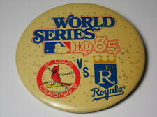 VTG 1985 KANSAS CITY ROYALS ST LOUIS CARDINALS World Series MLB PIN George Brett