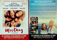 2 X MUSTANG MOVIE FILM FLYERS - DENIZ GAMZE ERGUVEN - ELIT ISCAN GUNES SENSOY