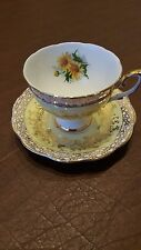Royal Standard White & Yellow with Gold Trim and Yellow Flowers made in England